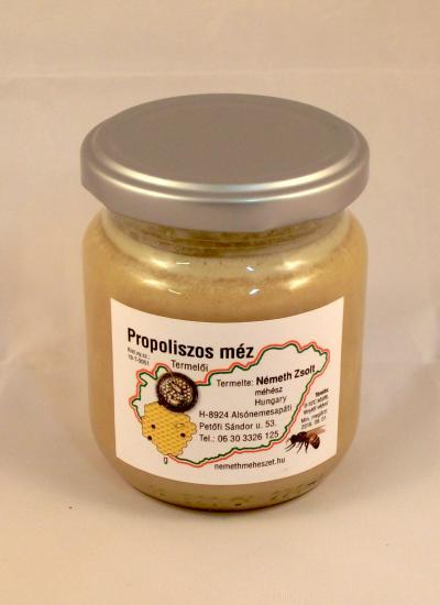 Propoliszos méz 0,25kg