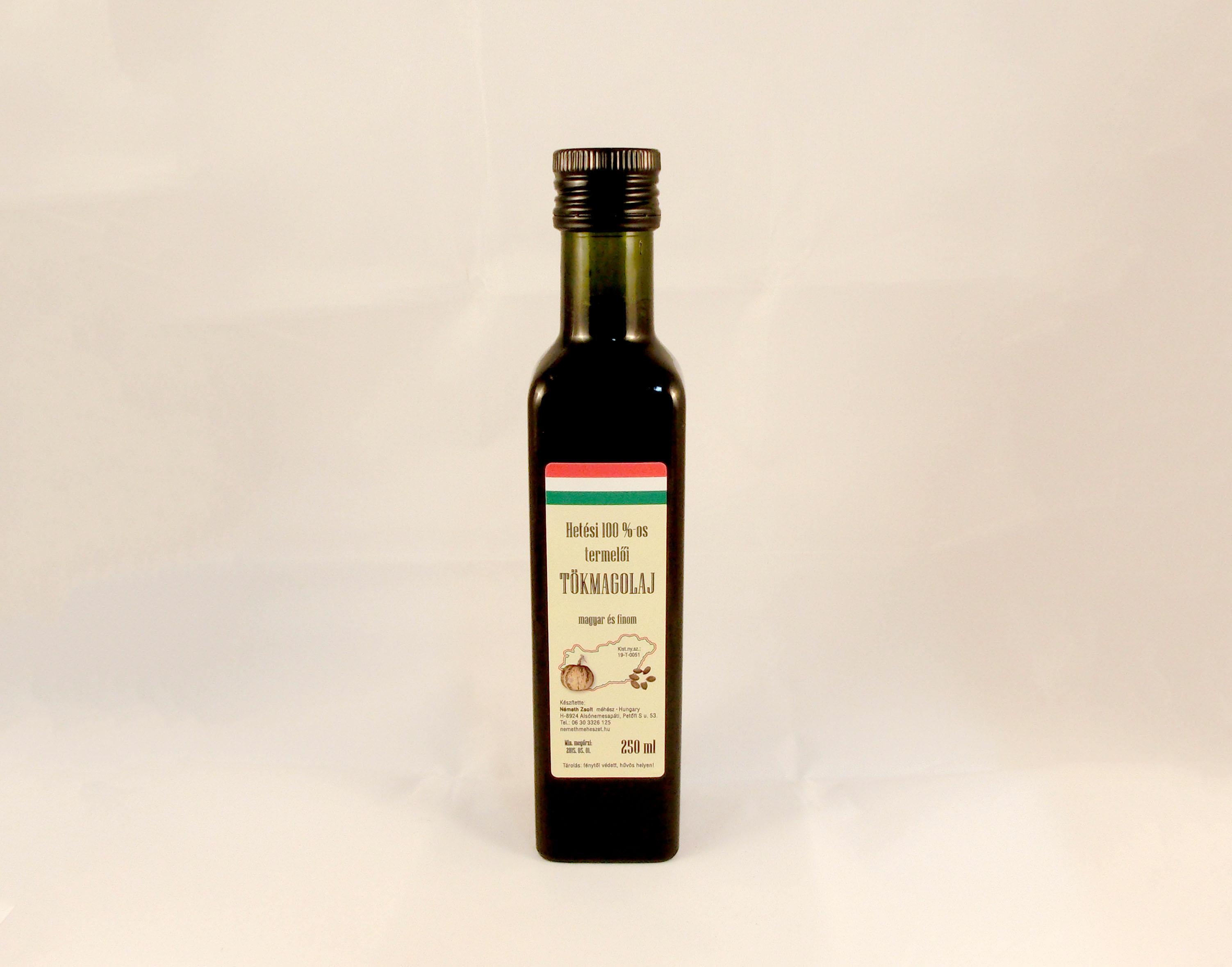 Tökmagolaj 0,25 liter üvegben