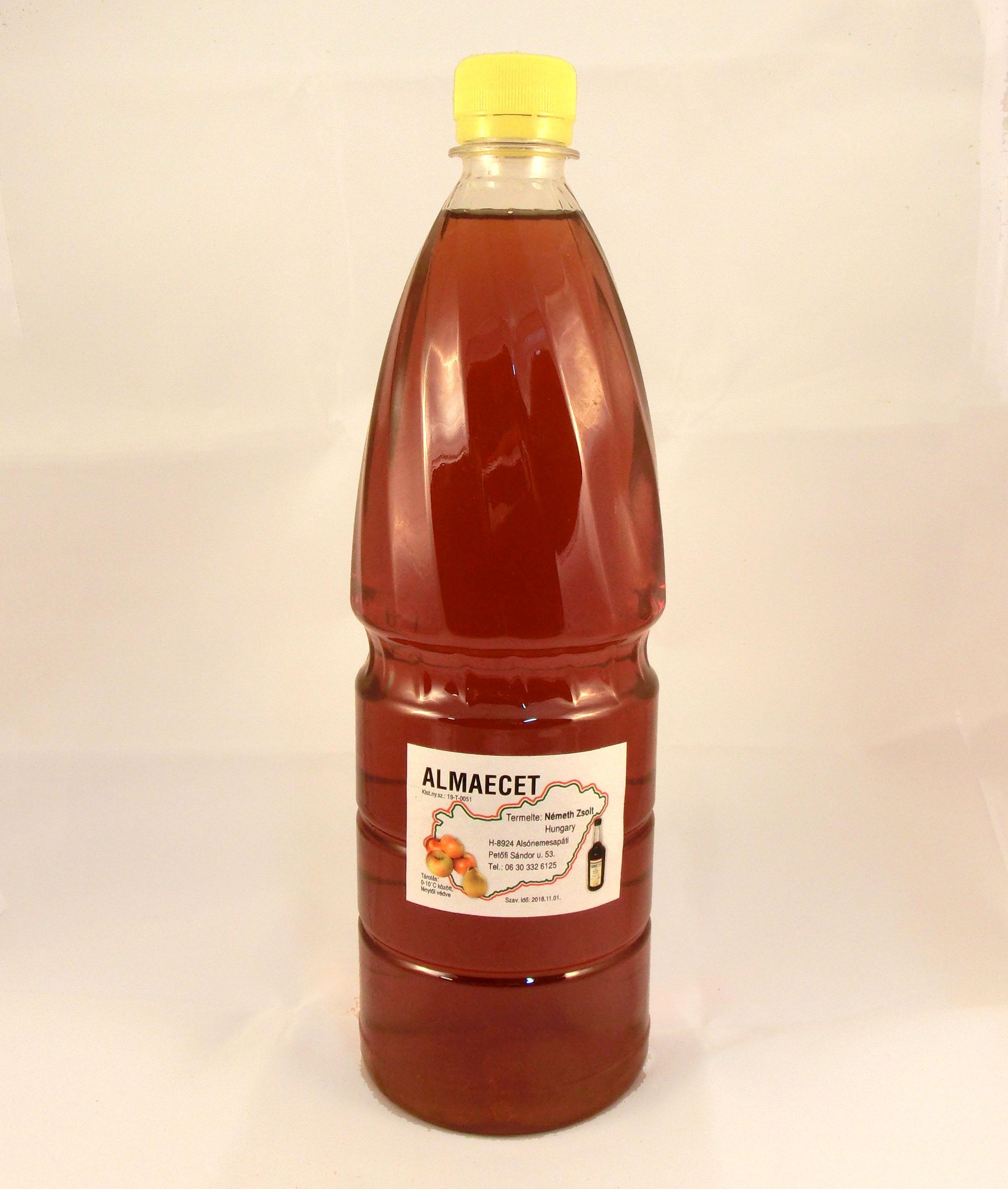 Almaecet 1 liter műanyagflakonos - Németh Méhészet méz..