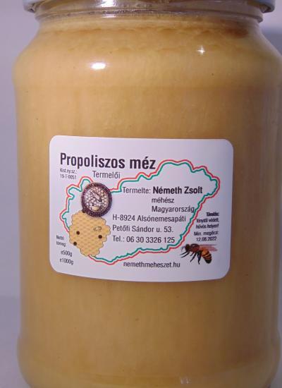 Propoliszos méz 0.5 kg-os